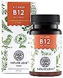 NATURE LOVE Vitamin B12 - Vergleichssieger 2019* - 1000µg, 180 Tabletten. Beide aktive Formen Adenosyl- & Methylcobalamin + Depot + Folsäure als 5-MTHF. Vegan, hochdosiert, made in Germany