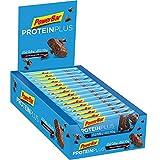 PowerBar Protein Plus Riegel mit nur 107 Kcal - Low Sugar Eiweiß-Riegel, Fitness-Riegel mit Ballaststoffen - Chocolate-Brownie (30 x 35g)