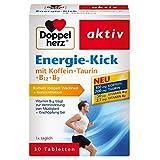 Doppelherz Energie-Kick mit Koffein + Taurin + B12 + B2/Koffein zur Steigerung von Wachheit und Konzentration/1 x 30 Tabletten