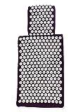 White Lotus AKUPRESSURMATTE-SET MATTE + KISSEN - Deutscher Testsieger - 1. Platz Vergleich.org, Premium-Qualität:einzige Matte/Kissen in Europa gemäß EU-Standards mit Memory-Schaumstoff, Allergie Frei