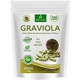 MoriVeda® - Graviola Presslinge 360 x 2000mg Frucht Extrakt 4:1 Vegan, Qualitätsprodukt –...