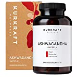 Kurkraft Premium Bio Ashwagandha (180 Kapseln) - 600mg je Kapsel (1800mg je Tagesportion) - Vegan -...