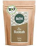 Baobab Pulver Bio 250g - Biobaobab in Premium Bio-Qualität - Apothekerbaum - Affenbrotbaum -...