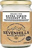 Sevenhills Wholefoods Kokosöl Bio 500ml, Nativ, Roh, Kaltgepresst, zum Kochen & Backen, für Haut &...
