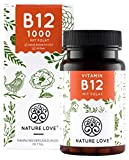 NATURE LOVE Vitamin B12 Vegan - Vergleichssieger 2020* - 1000µg, 180 Tabletten. Beide aktive Formen...